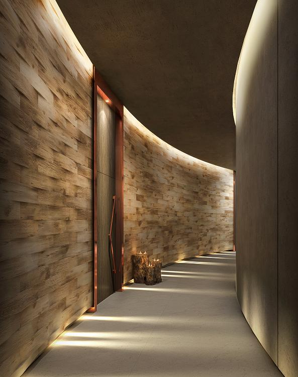 Designed by Gillian Docherty of Studio HBA in Dubai, Katara Beach Club by LivNordic Spa & Wellness aims to bring the outside in with an interplay of light and shadow