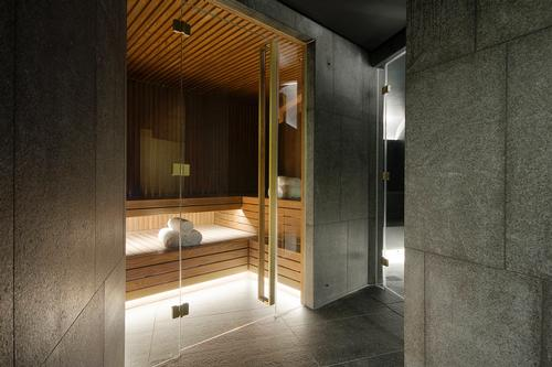 An urban retreat built into two original vaults, the Away Spa includes seven treatment rooms, a sauna, steam room, wet area with fire bath and plunge pool and a relaxation zone