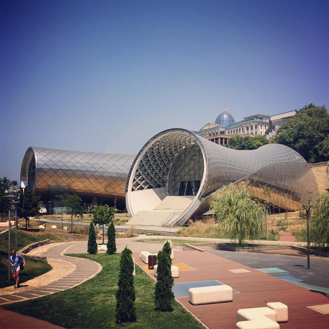 The project, located in the capital's Rhike Park, is in the advanced stages of construction / Studio Fuksas
