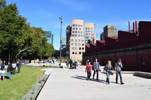 The eco-friendly green corridor follows the path of a former train line