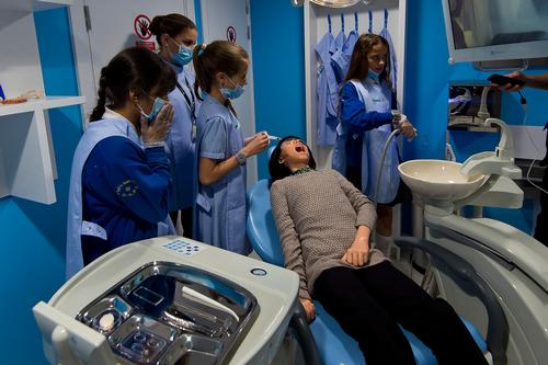 Dentists in training at the launch of KidZania London