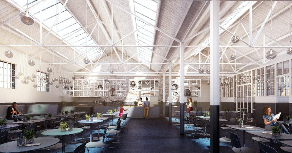 A semi-derelict former officers' mess will be transformed into a 170-seat restaurant / Hayes Davidson