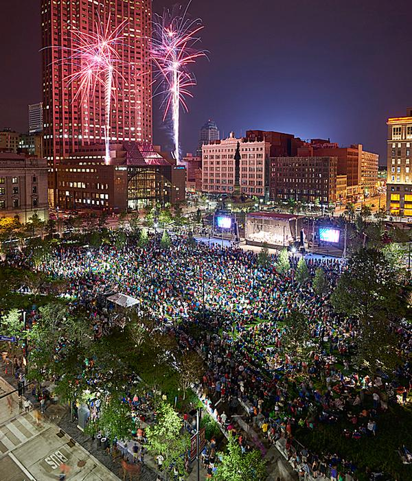James Corner Field Operations have designed a new park for Cleveland's Public Square