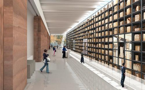 The museum will house Narbonne's vast collection of Roman artefacts, including 1,000 funerary blocks / Foster + Partners