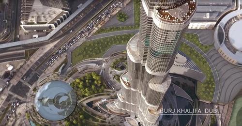 BIG's design for the Burj Khalifa control centre / Hyperloop One