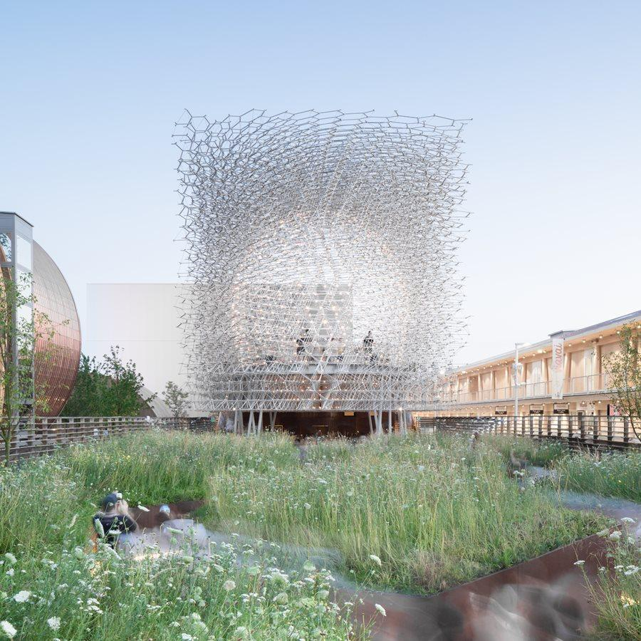The Hive pavilion won the Award For Small Practices / ISE