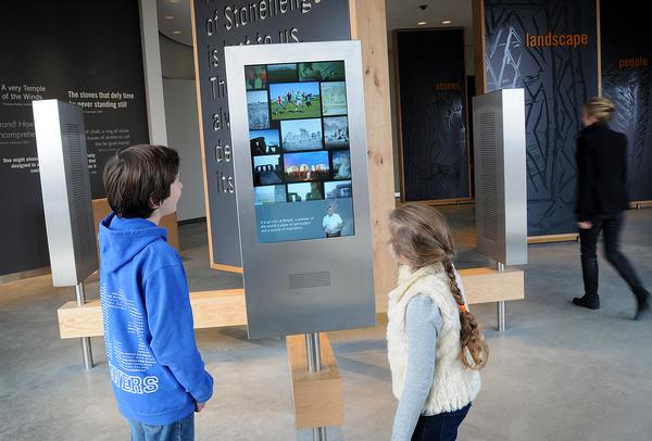 Interactive displays help bring the story of Stonehenge to life for visitors
