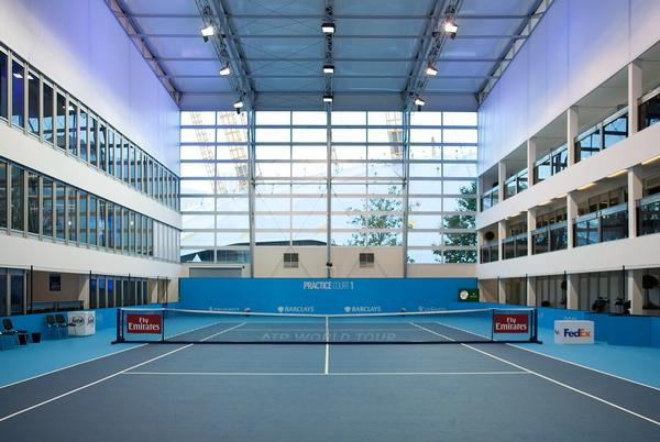 Arena Group transformed London's O2 Arena into a tennis venue using temporary structures