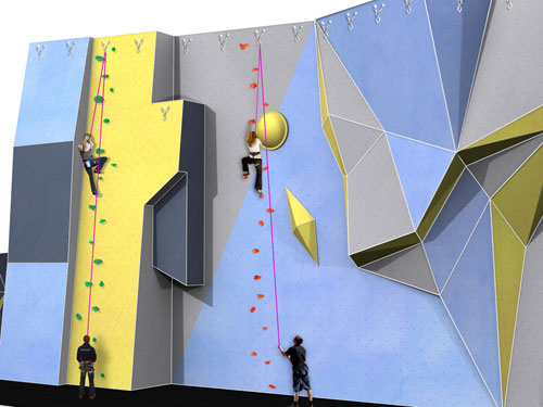 The proposed climbing wall for Basildon Sporting Village