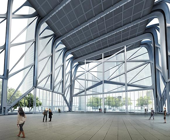 The shell can be expanded to create a vast indoor/outdoor performance space / Diller Scott + Renfro