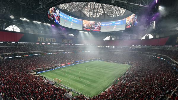 The Mercedes-Benz Stadium is to host the 2019 Superbowl / PHOTO: PA IMAGES / PERRY MCINTYRE