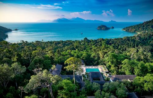 Architect Kerry Hill's original vision was for a luxurious hideaway set amidst a 10-million-year-old rainforest backed by Datai Bay