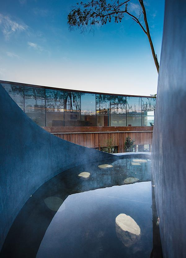 Aim Architects built this spa resort around natural hot springs in China's Sichuan province