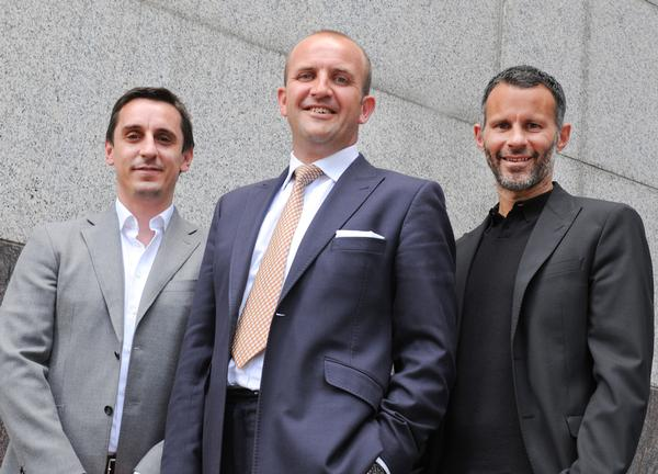 Gery Neville (left), managing director Stuart Procter (middle) and Ryan Giggs are driving the project