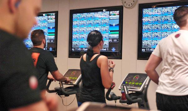 Members must get their own effort levels to match with pre-set zones in the workout