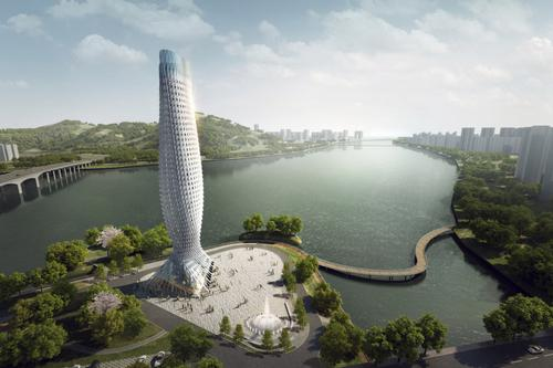 Architecture firm RMJM reveals designs for progressive fish-like tower in China