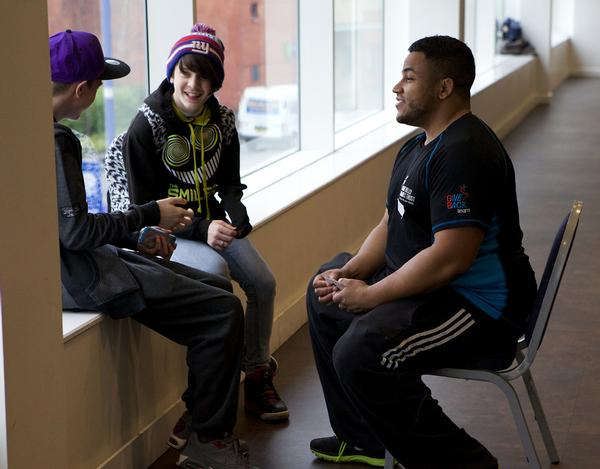The interaction between young people and athletes is beneficial for both
