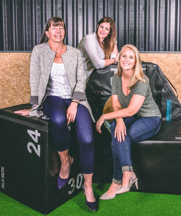 Left to right: Puregym's Francine Davis, Eve Sukhnandan and Rebecca Passmore