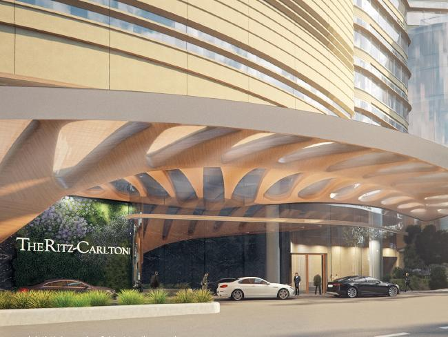 The tower will house a six-star Ritz Carlton hotel / FJMT