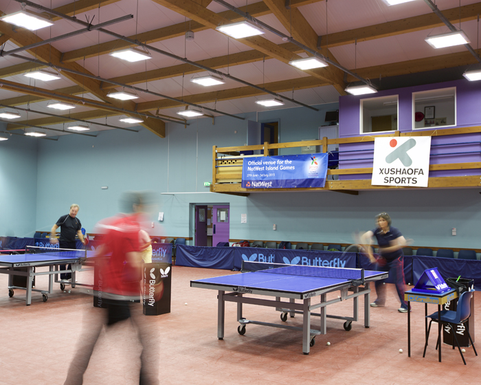 Jersey table tennis centre prepares for international games with lighting installation