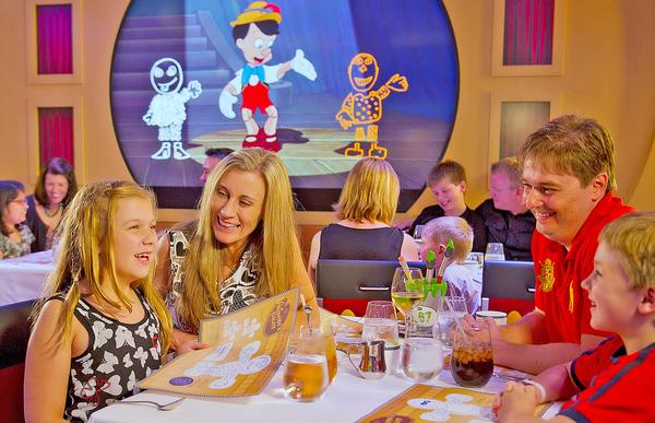 The Animator's Palate restaurant immerses guests in a cartoon storyboard scenario