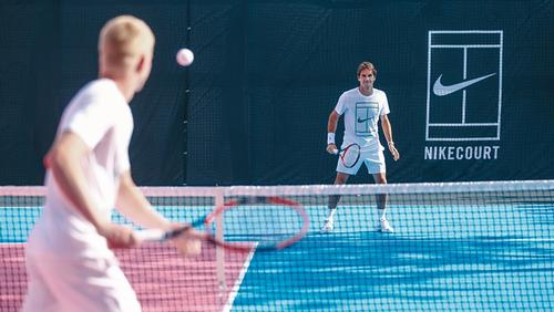 Roger Federer launches NikeCourt tennis project with pink courts