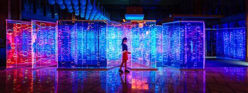 As visitors walk through the maze, light and colour will change, shifting through the entire colour spectrum / ImagenSubliminal.com / Miguel de Guzman+Rocio Romero