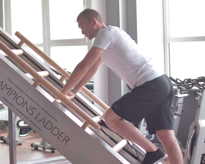 The Champions Ladder s an innovative climbing treadmill, designed to build aerobic and anaerobic endurance