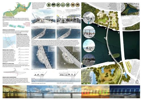 A new pedestrian and cycle bridge will have 'the potential to become a destination rather than a simple connect' / Sameep Padora & Associates