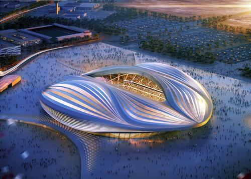 One of the main World Cup 2022 stadiums in Qatar has been designed by Zaha Hadid