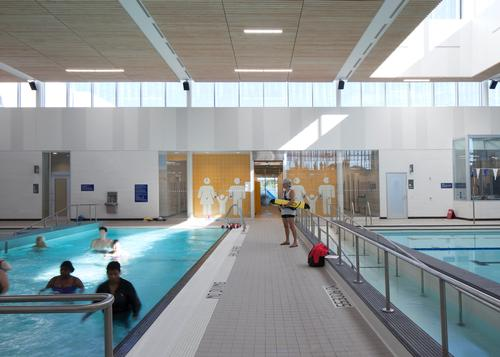 A pool and gym feature in the building, alongside a kitchen, workshops and social spaces / Lisa Logan
