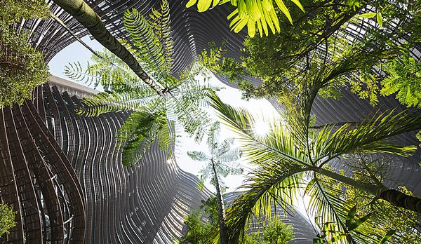 The mixed use Marina One development brings greenery to the heart of Singapore