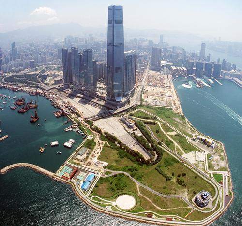 A bird's eye view of West Kowloon Cultural District / WKCDA