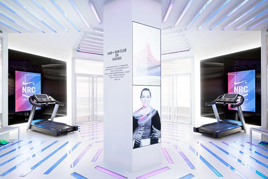 The designers wanted to 'wrap participants in a temple-like setting devoted to the running experience' / Coordination Asia