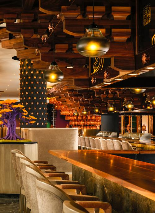 Eight bars and restaurants will feature, including the Morimoto, designed by Glamorous Inc / Glamorous Inc