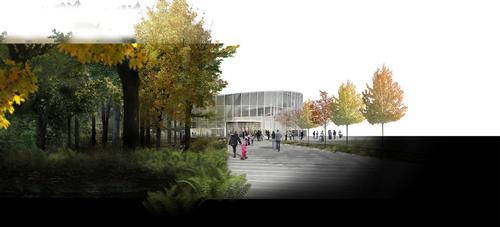 The site will be built in a forest clearing, enhancing its connection with nature / City of Laval/v2com