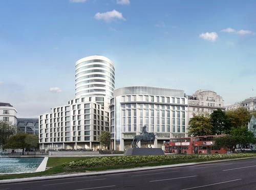 Rafael Viñoly Architects submitted plans for Marble Arch / Almacantar