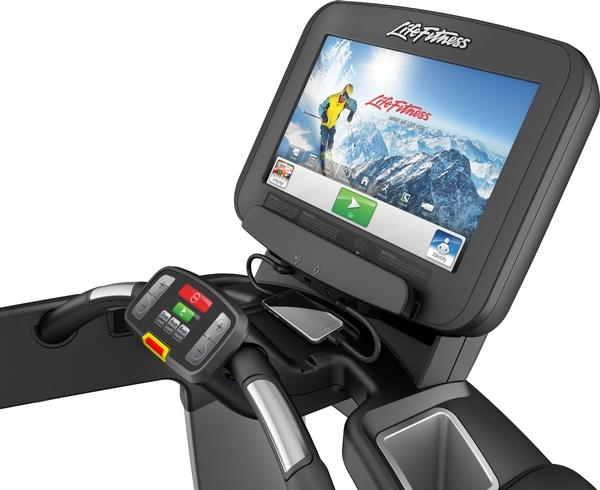 Life Fitness Discover consoles offer swipe technology touchscreens