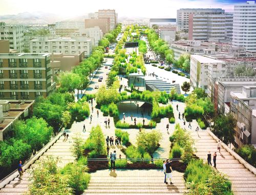 The architects see the Cultural Corridor Chapultepec project as an opportunity to give the historic street back to the people
