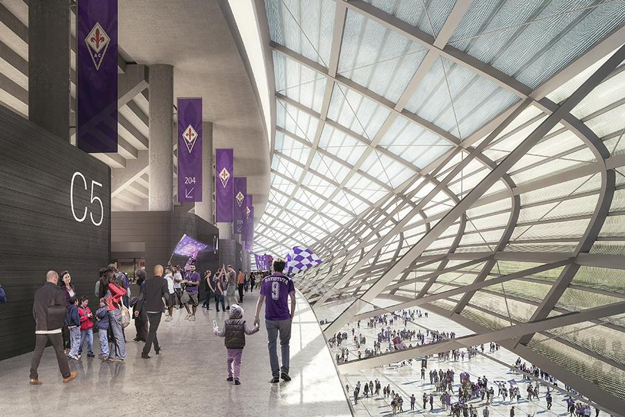 Creating a positive fan experience is the focus of the design / Arup