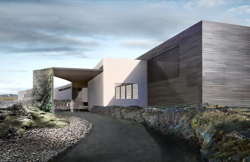 The Moss Hotel will be built into a moss-covered lava flow dating from the year 1226