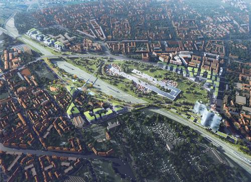 The proposal is called 'Historical Future: Milan Reborn for Scali Milano' / MAD Architects