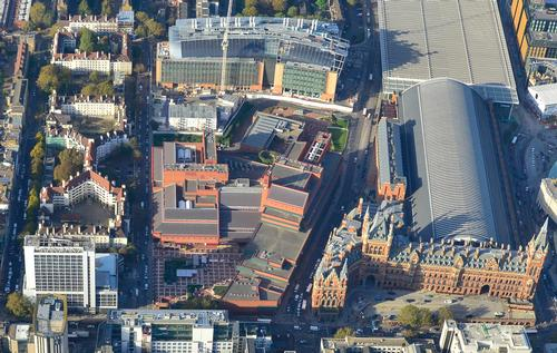 RSHP will build 100,000sq ft (9,300sq m) of new spaces on a 2.8 acre site to the north of the library's Grade 1 Listed building at St Pancras / Ian Hay