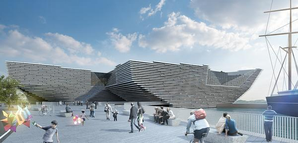 The V&A Dundee will be Kengo Kuma's first UK building. It is currently under construction and is due for completion in 2017