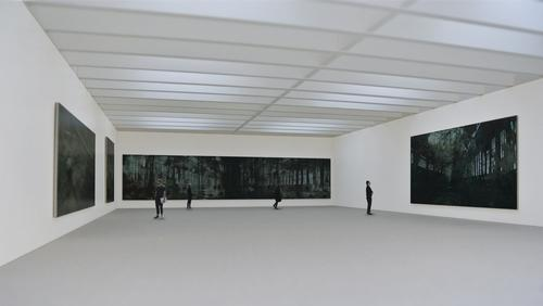 The new gallery, sunk into the cliff alongside the original building, will offer artists and curators a column-free space lit by six large skylights / Jamie Fobert Architects