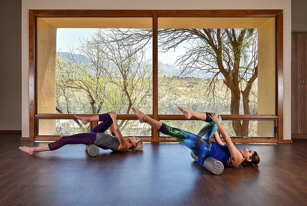 Miraval fitness studios feature plenty of natural light and views of the outdoor environment