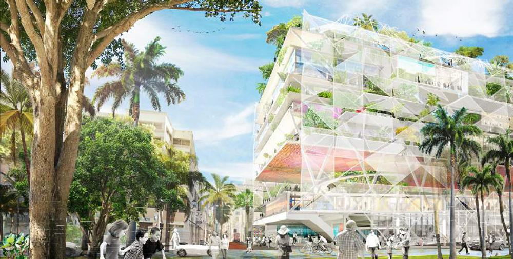 A new flexible and permeable building featuring a bioclimatic design will be accessible to all citizens 'from the ground floor to the public roof terrace' / Open Shore