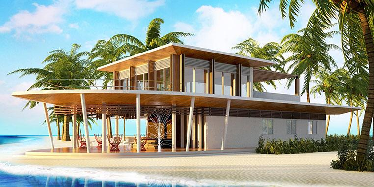 Contemporary one- two- and three-bedroom residences spread out across the island that feature rooftop lounges, outdoor decks, private gardens and private pools