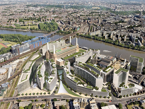 The proposed Battersea Power Station development