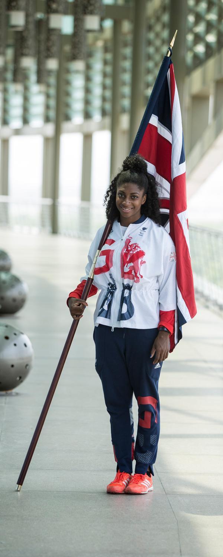 Kadeena Cox was chosen as flag bearer for the closing ceremony